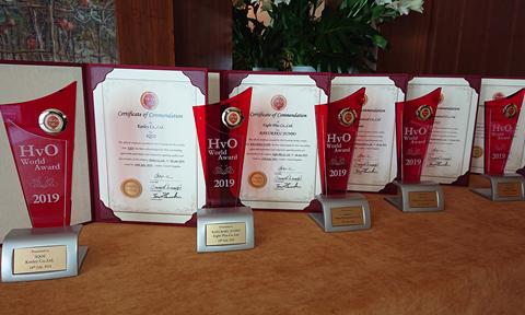 本年は、新規エントリー1製品を含む計5社7製品が栄えあるHvO世界大賞に選ばれました。   This year, a total of 7 products from 5 companies, including 1 newcomer were selected for the award.